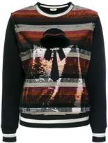 Fendi sequinned Karlito feature sweater
