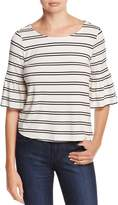 Cupcakes And Cashmere Moselle Striped Bell Sleeve Top
