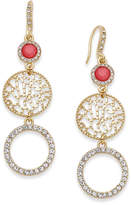 INC International Concepts Gold-Tone Triple Drop Earrings, Only at Macy's