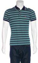 Moschino Striped Piqué Polo Shirt