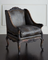 Old Hickory Tannery Drizzle Gray Leather Chair