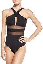 Jets Aspire Cross-Over One-Piece Swimsuit, Black