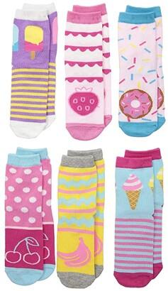 Jefferies Socks Sweet Treats Crew 6-Pack (Toddler/Little Kid/Big Kid) (Multi) Girls Shoes