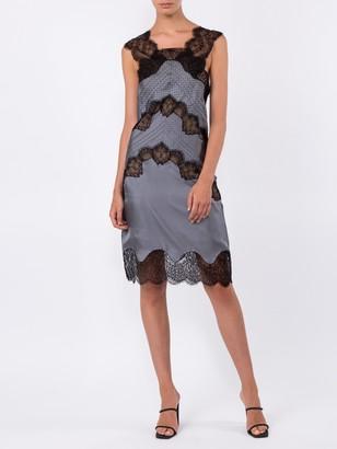 Fendi Chevron Lace Shift-dress