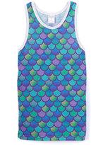 Urban Smalls Blue & Purple Mermaid Tank - Toddler & Girls
