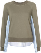 Derek Lam 10 Crosby shirting knitted pullover