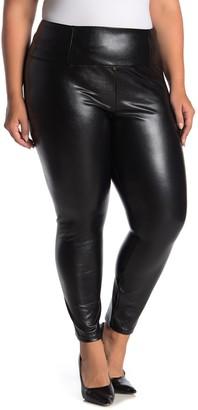 Love, Fire Faux Leather Leggings (Plus Size)