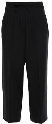 Haider Ackermann Cropped Pleated Wool-twill Wide-leg Pants