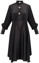 Christopher Kane Dome-embellished Satin Dress - Womens - Black