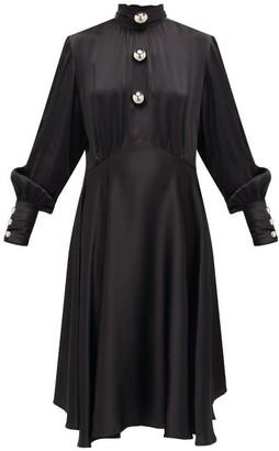 Christopher Kane Dome-embellished Satin Dress - Black