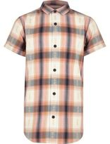 River Island Boys Orange check short sleeve shirt