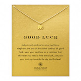 Dogeared Gold Plated Good Luck Elephant Necklace