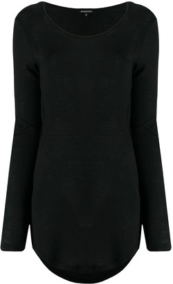Ann Demeulemeester cut-out long-sleeved T-shirt