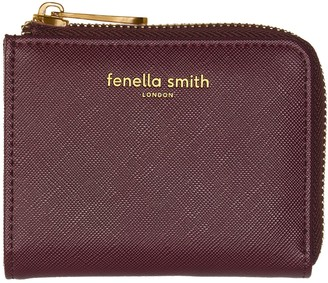 Fenella Smith Burgundy Vegan Leather Small Purse
