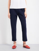 DELPOZO Tapered cropped neoprene trousers