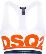 DSQUARED2 logo print sports bra