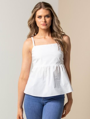 Forever New Ulla Babydoll Cami - White - 10