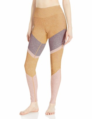 Alo Yoga Women's High Waist Alosoft Sheila Legging Tuscan Sun Smoky Quartz Nectar Heather Medium