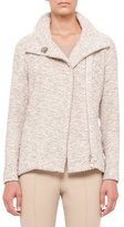Akris Easy Long-Sleeve Boucle Tweed Jacket, Kami/Beige