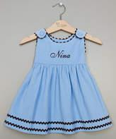 Princess Linens Blue Personalized Corduroy Dress - Infant, Toddler & Girls