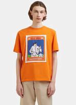 J.w. Anderson Baseball Card Patch T-shirt In Orange