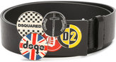 DSQUARED2 pin buckle belt - men - Leather/Metal (Other) - 95