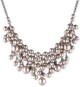 Carolee Hematite-Tone Imitation Pearl Statement Necklace