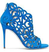 Rene Caovilla Rene' Caovilla Laser-Cut Suede Sandals