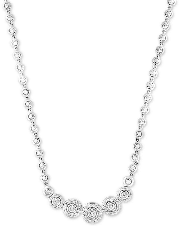 "Effy Pave Classica by Diamond Bezel 18"" Collar Necklace (9/10 ct. t.w.)"