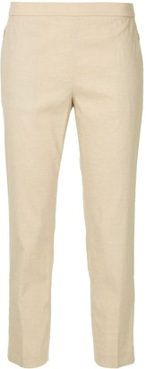 Theory Cropped High Waisted Trousers