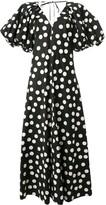 Lee Mathews Cherry Spot puff sleeve dress