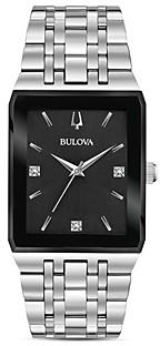 Bulova Futuro Quadra Link Bracelet Watch, 30mm x 45mm