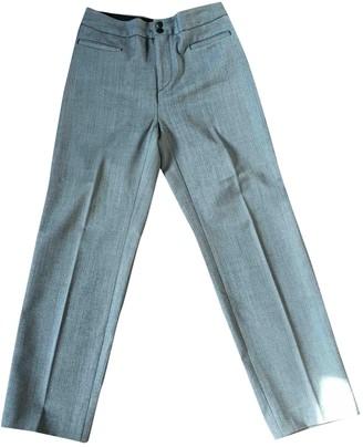 Et Vous Grey Cotton Trousers for Women