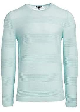 Saks Fifth Avenue Men's MODERN Textured Stripe Merino Wool Sweater