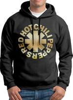 Sarah Men's Red Hot Chili Peppers Gold Logo Hoodie XL