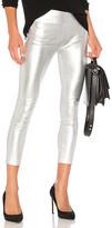 SPRWMN High Waist 3/4 Legging in Metallic Silver. - size S (also in )