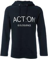 Comme des Garcons action print hoodie