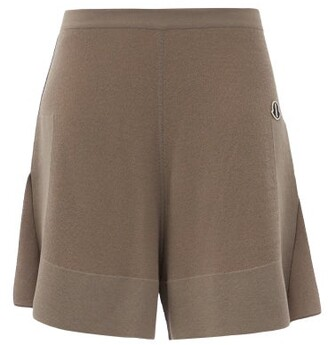 Moncler + Rick Owens Sisy High-rise Knitted Shorts - Brown