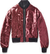 Haider Ackermann - Crushed-velvet Bomber Jacket