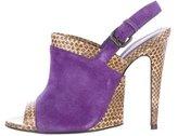 Bottega Veneta Suede Peep-Toe Sandals