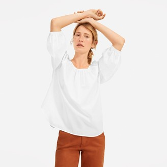 Everlane The Ruched Air Blouse