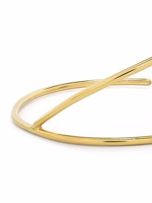 BONVO Asymmetric 18kt Gold-Plated Silver Cuff