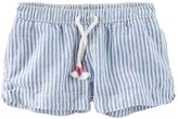 Osh Kosh Toddler Girl Striped Linen-Blend Shorts