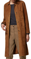 Toast Suede Leather Coat, Vicuna
