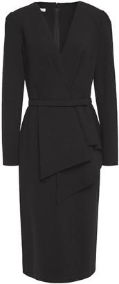 Oscar de la Renta Belted Wool-blend Dress