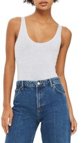 Topshop Women's Stretch Cotton Tank Bodysuit