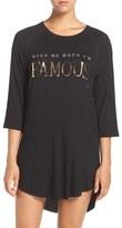 Junk Food Clothing Women's 'Wake Me When I'M Famous' Sleep Shirt