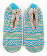 Blue & Green Gripper Slipper Socks