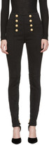 Balmain Black High-Rise Buttoned Jeans