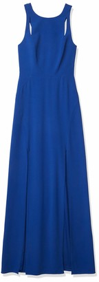 Halston Women's Sleeveless High Neck Dress with Back Cut Out